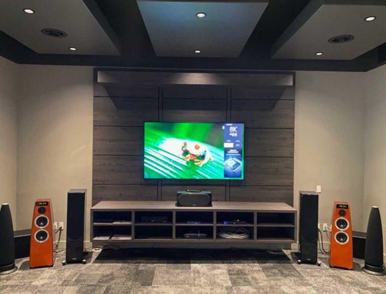 Large format Samsung 8K TV on display